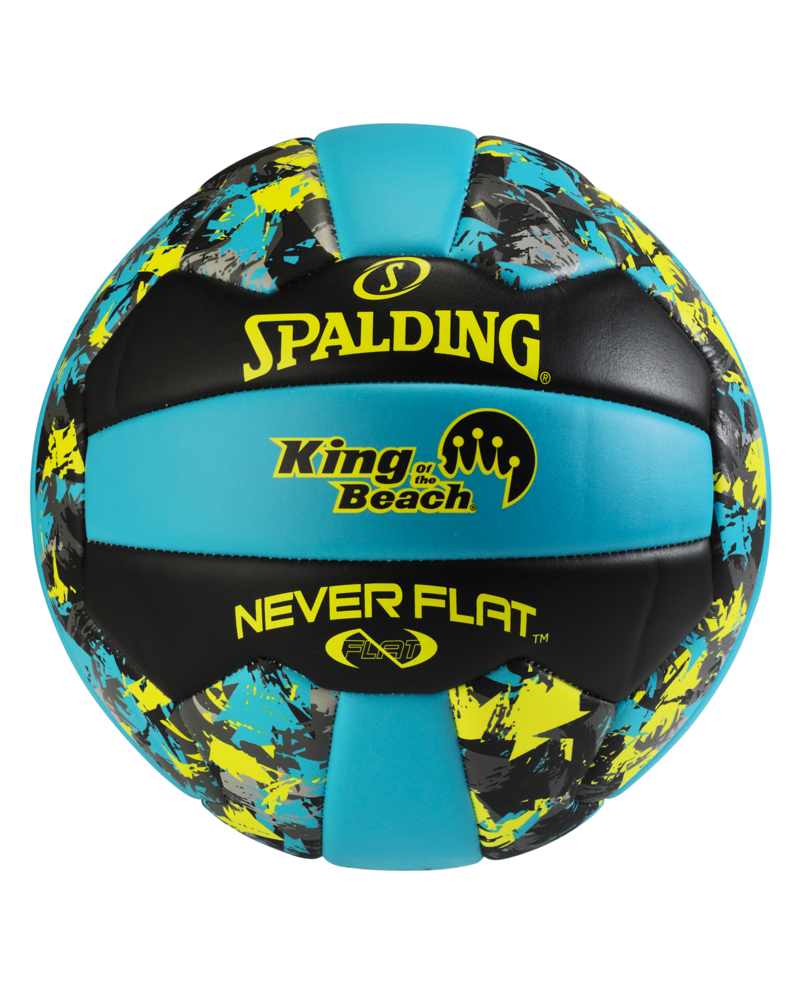 spalding volleyball blue and black