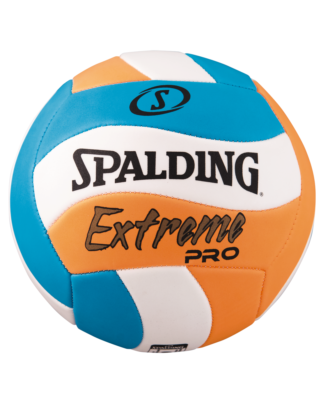 spalding volleyball blue and orange